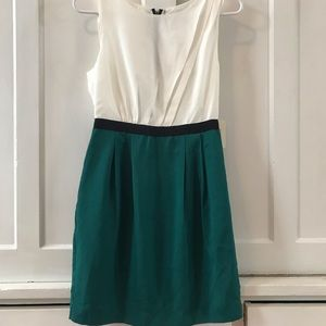 Jade and White Work/Evening Dress Forever 21 Small